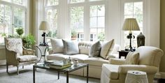 This looks like my sun room right now, right down to the wall color :) I Like It !   Warm Welcome   Atlanta Homes & Lifestyles