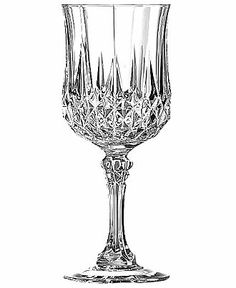 Longchamp Glassware, Set of 4 Diamax Goblets - Glassware & Stemware - Love all of this line. Especially the Rocks glasses Cut Glass, Clear Glass, Wine Glass, Glass Vase, Crystal Glassware, Crystal Vase, Vintage Plates, Vintage Items, Fiddle Leaf Fig