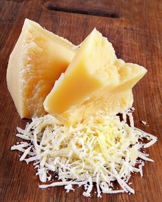Freshly grated parmesan...YUM!