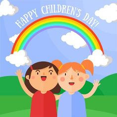 Happy Children's Day, Happy Kids, Images Of Children's Day, Lunar Chronicles, Child Day, Vector File, Art Drawings, Crafts For Kids, Mixed Media