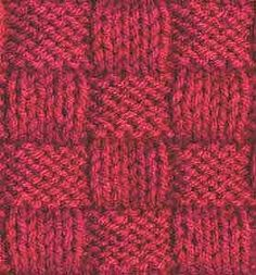 The Basketweave stitch is a stitch pattern that looks elaborate and complicated but is rather simple to knit. This stitch uses variations of knit and purl. Knitting Stiches, Knitting Charts, Loom Knitting, Knitting Patterns, Knit Stitches, Purl Stitch, Crochet Stitch, Crochet Pillow, Crochet Baby