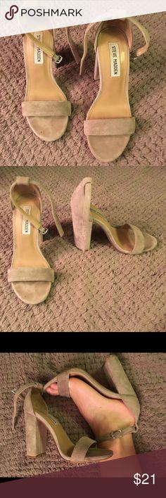 steve madden heels soft tan heels worn once Steve Madden Shoes Heels