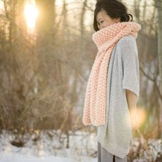 """Cucho Scarf, knitted using the """"We Are Knitters"""" kit!  Full review in blog post!"""