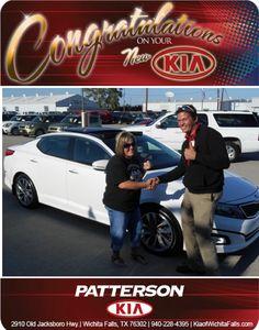 Congratulations to Christi Bogard and her new 2014 Kia Optima SX-Turbo! - From Jeff Baker at Patterson Kia