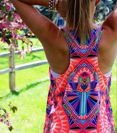 This neon aztec shirtis great!!