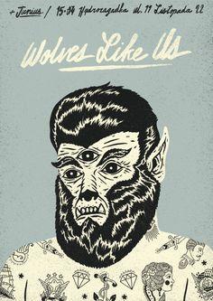 wolves like us   poster by Dawid Ryski, via Behance