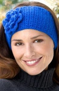 Pretty Petals Ear Warmer ~ beginner pattern ~ FREE CROCHET pattern ~ look good, stay warm & be stylish
