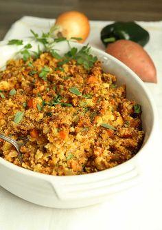 Chorizo cornbread dressing recipe hilahcooking.com