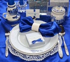 blue decoration by Mici's Magic Box by MERR