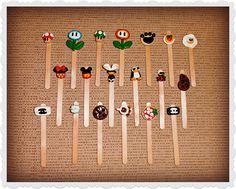 Bookmarks #Segnalibri #bookmarks #wood #handmade #fimo #food #fashion #chanel #animals #supermario #disney
