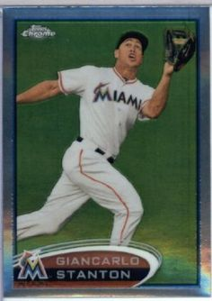 2012 Topps Chrome Baseball Card #32 Giancarlo Stanton Miami Marlins by Topps Chrome. $0.99. This is just one of the 220 different cards from this set available here!. Look for thousands of other great cards here. These are great cards for young collectors!. Great looking 2012 Topps Chrome baseball card!. Card is in great condition and shipped in a protective topload holder!. 2012 Topps Chrome Baseball Card #32 Giancarlo Stanton Miami Marlins