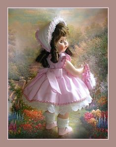 Baby Doll Clothes, Baby Dolls, Antique Dolls, Vintage Dolls, Madame Alexander Dolls, Beautiful Dolls, Elegant Dresses, Harajuku, Cartoon Clip