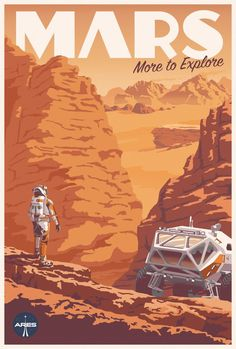 Space Frontier Check Out This Fantastic Poster For The Martian's IMAX Release - Starting yesterday, The Martian is being screened in IMAX theaters across the country. To accompany the release, there's a new poster, and it's a beauty. Poster Art, Kunst Poster, Poster Prints, Gig Poster, Wall Prints, Arte Sci Fi, Illustration Vector, Illustrations Posters, Beauty Illustration