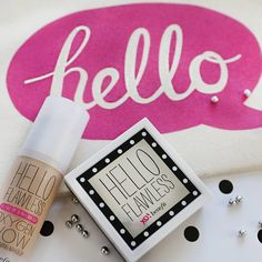 Hello! Wearing hello flawless oxygen wow foundation and powder together for a flawless finish!