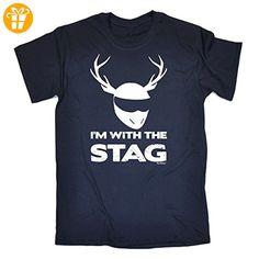 123t Slogans Herren T-Shirt Gr. Medium, Navy - Shirts mit spruch (*Partner-Link)