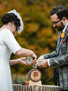 Age your own wedding-day spirit in a barrel that's branded with your new monogram, like this couple did. They poured unaged corn whiskeys from upstate New York and Brooklyn into a two-liter barrel as an alternative unity ceremony. Candle Lighting Ceremony, Unity Ceremony, Wedding Season, Wedding Day, Dream Wedding, Wedding Stuff, Church Wedding, Wedding Memorial, Autumn Wedding