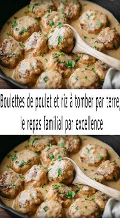 Chicken dumplings and rice to die for the family meal par excellence Fall Crockpot Recipes, Best Dinner Recipes, Breakfast Recipes, Healthy Family Dinners, Family Meals, Classic French Dishes, Italian Chicken Recipes, Fish And Meat, Football Food