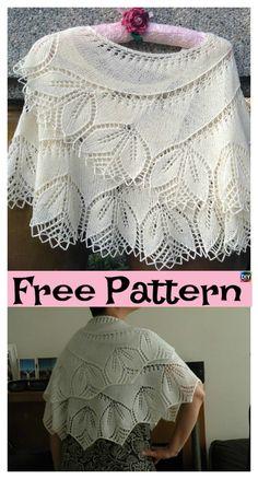 8 Pretty Knitting Lace Shawl Free Patterns #freeknittingpattern #laceshawl #shawl#lace