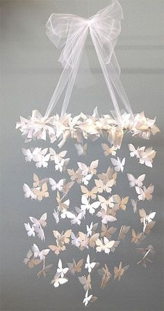 DIY Butterfly Chandelier.