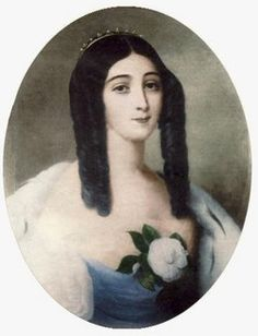 Marie Duplessis was a French courtesan and mistress to a number of prominent and wealthy men. She was the inspiration for Marguerite Gautier, the main character of La Dame aux Camélias by Alexandre Dumas the younger, one of Duplessis' lovers.