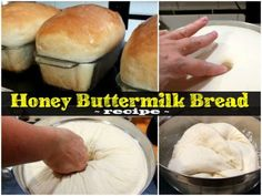 Easy homemade buttermilk bread recipe is sweetened with honey. Hand kneading or bread machine instructions, and step by step images. No-fail beginner recipe Honey Buttermilk Bread, Homemade Buttermilk, Homemade Breads, Honey Recipes, Bread Recipes, Cooking Recipes, Muffin Recipes, Cold Pasta Dishes, Bread Recipe Video