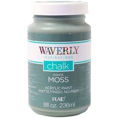 Waverly Inspirations Acrylic Matte Chalk Paint by Plaid, Moss, 8 oz. - Walmart.com