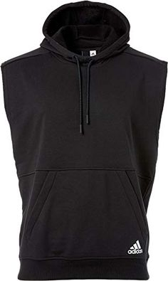 Adidas Men's Essentials French Terry Sleeveless Hoodie (Black, X-Large) Classy Outfits, Trendy Outfits, Track Suit Men, Sleeveless Hoodie, Mens Essentials, Hoodie Jacket, Black Hoodie, Adidas Men, French Terry