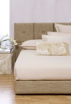Coco Linen Headboard and Box Spring Kit.