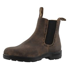 Blundstone Women's 1351 Chelsea Boot, Rustic Brown, M US. Poron xrd shock protection in heel-strike zone. Tpu outsole and pu midsole for longer wear and comfort. Blundstone Women, Brown Chelsea Boots Outfit, Fashion Models, Fashion Outfits, Shoe Boots, Shoe Bag, Women's Shoes, Ankle Booties, My Style