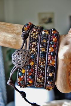 EYE of theTIGER 4 Wrap Antique Brown by BraceletsofBlueRidge