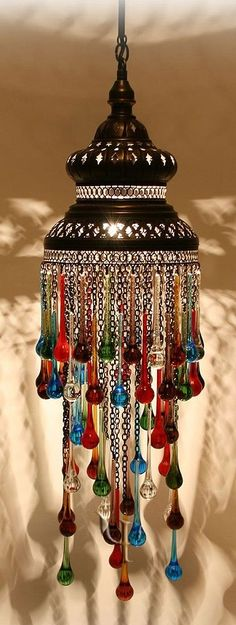 I love this middle eastern inspired decor! The blown glass I'm sure looks awesome when it's lit up.