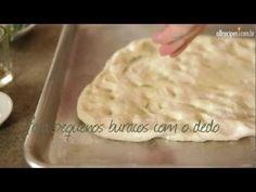 Como fazer pão focaccia - YouTube