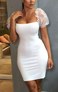 Different Fabrics, Homecoming Dresses, Dress Making, Mini, Arm, White Dress, Bodycon Dress, Formal Dresses, Sleeves