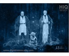 P194: Anakin Skywalker Master Yoda and Ben Kenobi by DigitDreams