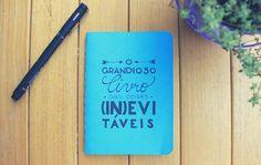 O Grandioso Livro das Coisas Inevitáveis   alineando.com.br #caderno #lettering #journal