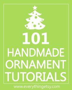 101 adornos de Navidad hechos a mano.