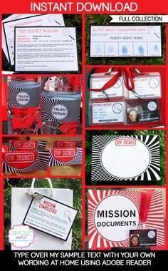 Spy Party Printables, Invitations & Decorations | Secret Codes & Ciphers