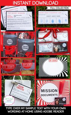 Spy Party Printables, Invitations & Decorations | Secret Codes & Ciphers