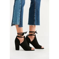 BC Footwear Set Me Free II Ankle Boot (€65) ❤ liked on Polyvore featuring shoes, boots, ankle booties, cut-out booties, block heel booties, cut out ankle boots, peep toe bootie and block heel ankle boots