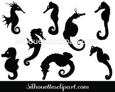 Ideal sea horse vector elements are added to this pack of Sea Horse Silhouette ideal for wall decals, stickers and stationary prints and many more. Giraffe Silhouette, Silhouette Clip Art, Vector Graphics, Vector Art, Animal Line Drawings, Fish Graphic, Stationery Printing, Fish Vector, Vector Design