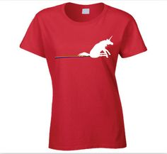 Unicorn and Rainbow T Shirt