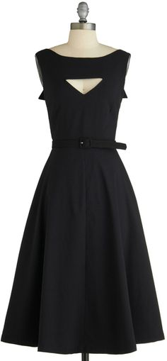 Modcloth The Evening Unfolds Dress in Black | Lyst