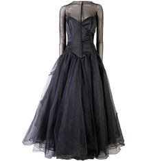 1stdibs.com Vicky Tiel Couture Custom Made Black 1980's Evening Gown Size 46