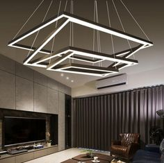M Rectangular Frame Creative Iron Acrylic Office Lighting Living Room Lights Restaurant Modern Minimalist Personality Lamp Office Lighting, Living Room Lighting, Restaurant Lighting, My Home Design, Modern Minimalist, Ceiling Lights, Room Lights, Cool Things To Buy, I Am Awesome