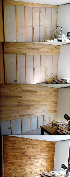 diy pallet wall cladding