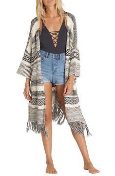 Billabong Valley Trek Knit Kimono available at #Nordstrom
