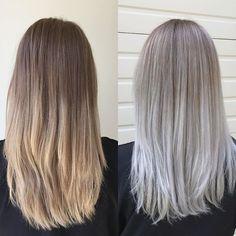 B&A silver white blonde balayage#hairbysarmad #haircut #haircolor #hairgoals…