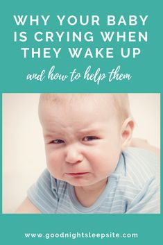If your baby wakes up screaming and crying there are likely 3 things going on. We break them down and offer some tips on what to do to help them.   #parenting #babies #baby #sleep #crying #naps