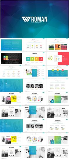 121 Best Business Powerpoint Templates Images On Pinterest In 2018