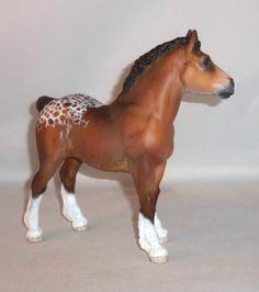 Custom / CM Breyer Horse, Traditional Sugarbush Draft Colt x B. Morgan